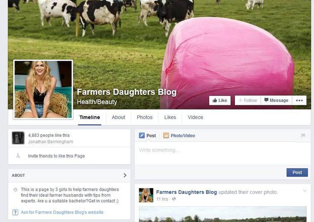 The 'Farmers Daughters Blog' on Facebook