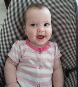 After several months in ICU, Elizabeth - now 18 months old - initially