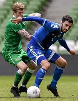 Northern Ireland's training match with the Republic took place behind closed doors David Maher / SPORTSFILE