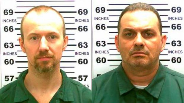 UNDATED: In this handout from New York State Police, convicted murderers David Sweat (L) and Richard Matt are shown i n this composite image. Matt, 48, and Sweat, 34, escaped from the maximum security prison June 6, 2015 using power tools and going through a manhole. (Photo by New York State Police via Getty Images)