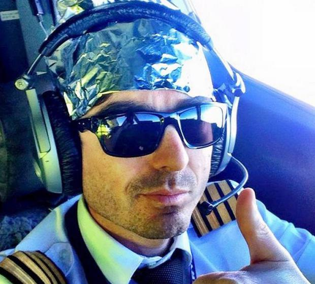 Ryanair pilot Iain Inglis wears tinfoil hat to poke fun at radiation exposure