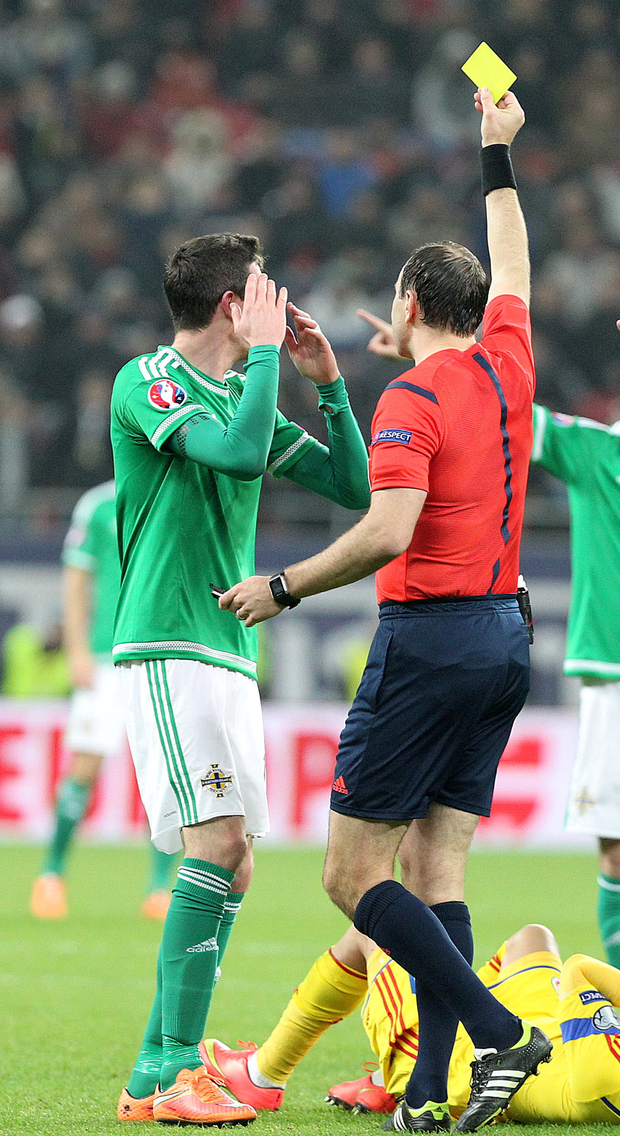 Seeing yellow: Kyle Lafferty has been booked twice