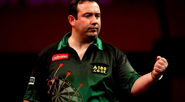 World in motion: Brendan Dolan should guide Northern Ireland to victory against Thailand tonight in the World Cup in Germany