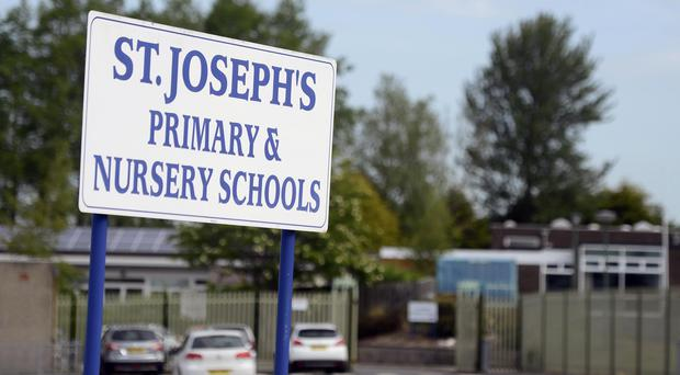 Pacemaker Press 12/6/2015 A primary school in County Antrim has been closed due to fears that asbestos had been found in the building. St Joseph's Primary School on the Greystone Road in Antrim closed earlier this week. Pic Colm Lenaghan/Pacemaker