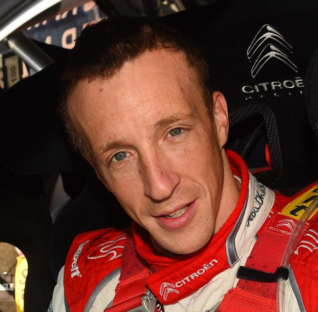 Kris Meeke crashed his Citroen DS3 on the first gravel stage of Rally Italia
