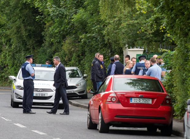 The scene of the shooting in Clonsilla