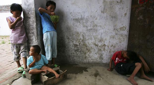 An orphanage in Anhui Province, China