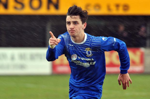 Staying put: Jamie Glackin has signed a new deal with Swifts