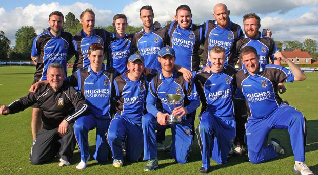 Cup kings: the CIYMS side proudly display the Lagan Valley Steels Twenty20 trophy they won in Waringstown
