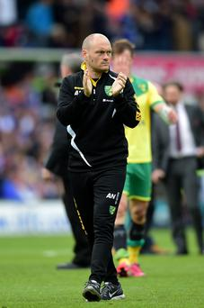 At the helm: Alex Neil has led Norwich to the highest level