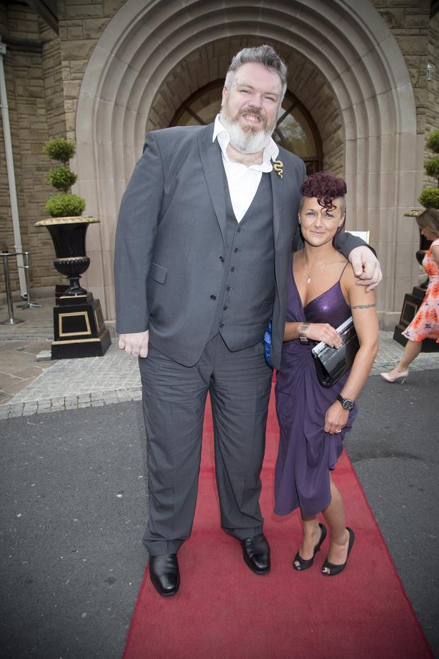 Kristian Nairn and Tirzah Pollock Pic: Mark McCormick/Sunday Life.