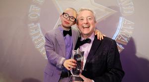 Louis Walsh with Overall Spirit of NI winner Jay Beatty. Pic: Kelvin Boyes/Press Eye.