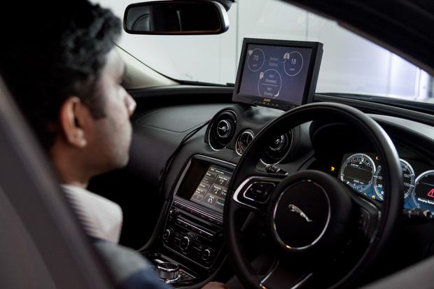 Jaguar is testing hi-tech systems to monitor a car driver's stress, fatigue and concentration