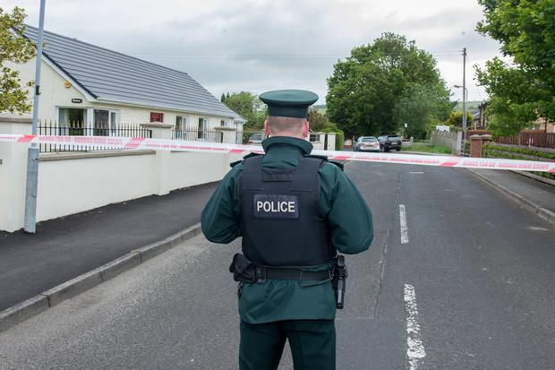 PACEMAKER BELFAST 18/06/2015The scene at Glenrandel in Eglinton village outside Londonderry where a bomb was discovered outside the home of a serving police officer in the early hours of Thursday morning. Fifteen homes were evacuated during the alert.