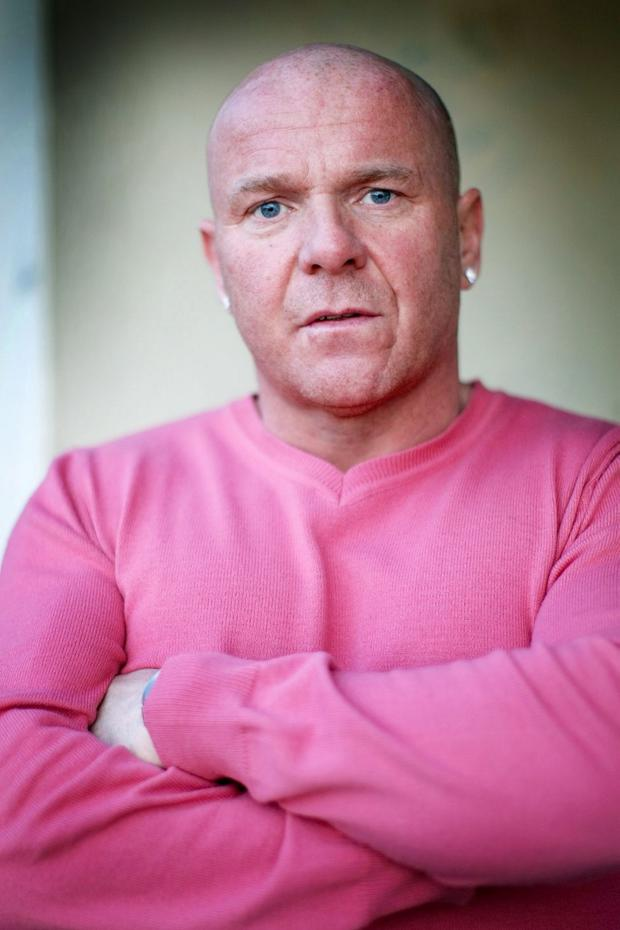 Johnny Adair at his home in Troon