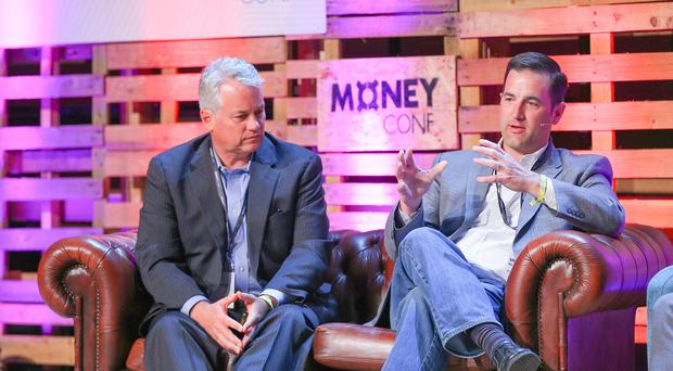 Picture - Kevin Scott / Presseye Monday 15th June 2015 - Money Conf Pictured is John McDonnell and Stephen Pair during the Money Conf at T13 in Belfast Picture - Kevin Scott / Presseye