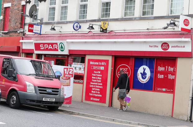 Child was held hostage by a kidnapper who attacked father and forced him to demand money from Ravenhill Road Post Office. Picture by Jonathan Porter/Press Eye