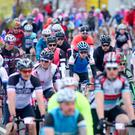 Gran Fondo Giro d'Italia begins at the Titanic Slipways in Belfast. Pic: Kevin Scott /Presseye.