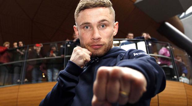 Carl Frampton, IBF World Bantamweight champion, is our explosive new columnist. Pic: Aidan O'Reilly/Pacemaker Press.