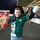 Home from home: Carl is keen to defend his title in front of the Windsor Park faithful. Pic: Liam McBurney/PA Wire.
