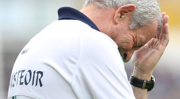 Hard to watch: Fermanagh manager Peter McGrath