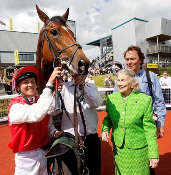 Bet on the Bay: Magners Ulster Derby winner Botany Bay, rider Niall McCullagh, owner Jacqueline O'Brien and trainer Charles O'Brien in the winners enclosure at Down Royal