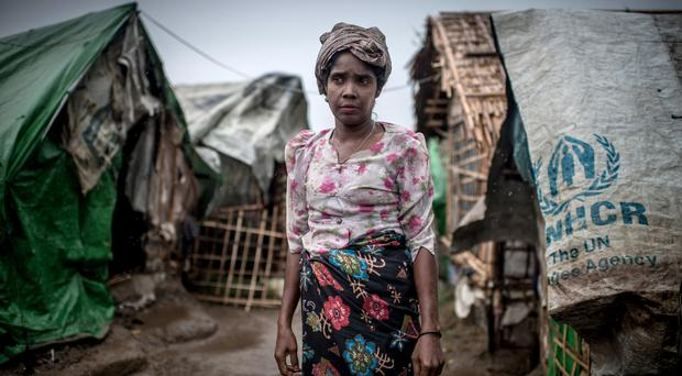 A woman in an IDP (Internally Displaced Person) camp in Burma, which is suffering from famine. She has not eaten in four days, she says.