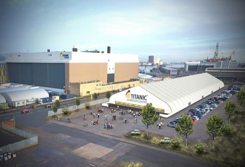A mock-up of what the new Titanic Exhibition Centre could look like
