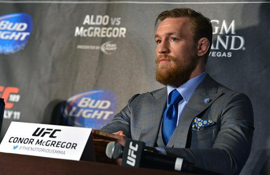 UFC 189: Aldo v McGregor on July 11 2015.