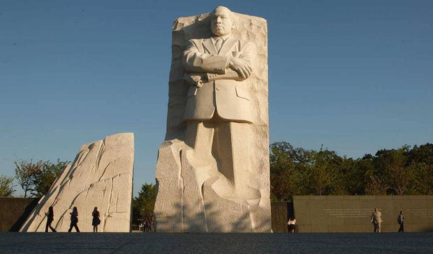 The memorial to civil rights leader Martin Luther King in Washington.