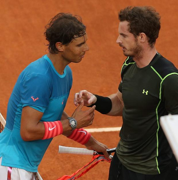 Luck of the draw: Rafa Nadal and Andy Murray could meet as soon as the SW19 quarter-finals