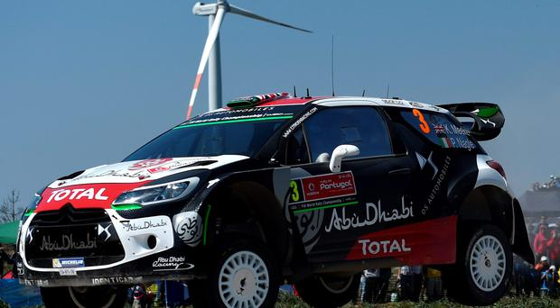 New heights: Kris Meeke, pictured in his Citroen DS3 WRC, is excited by the prospect of racing the world's best in NI