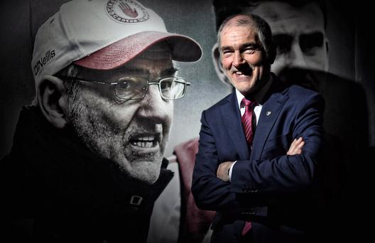 Reason to smile: Mickey Harte has never lost in the first round of the qualifiers in his 14-year reign at Tyrone