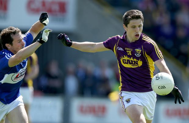 Big danger: Ciaran Lyng poses a threat to the Mournemen
