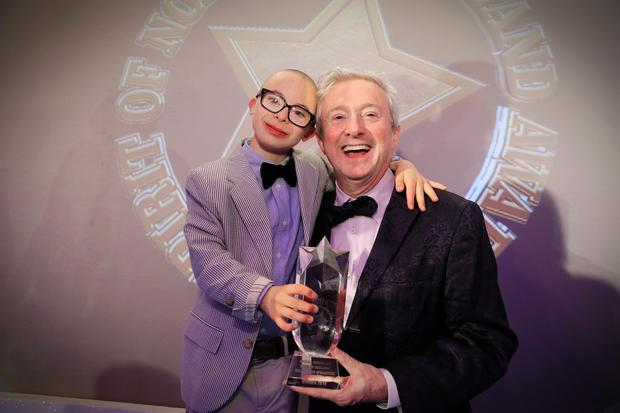 Spirit of Northern Ireland Awards overall winner Jay Beatty with Louis Walsh. Pic: Kelvin Boyes/Press Eye.