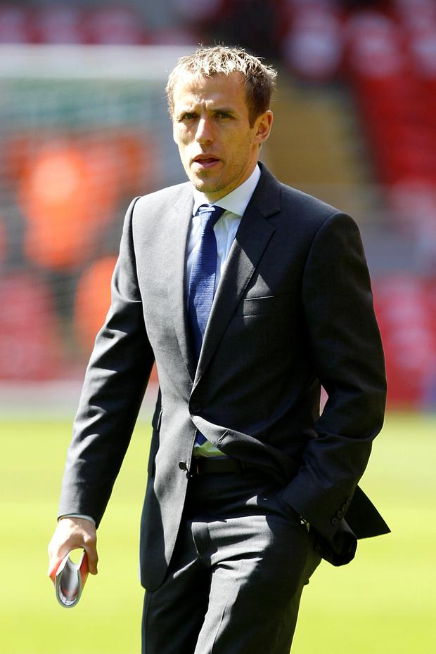 Former Manchester United and England full-back Phil Neville has joined the coaching staff of Valencia, the Spanish club have announced. Peter Byrne/PA Wire.
