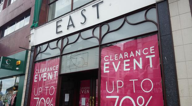 The former East store in Belfast city centre which has now closed