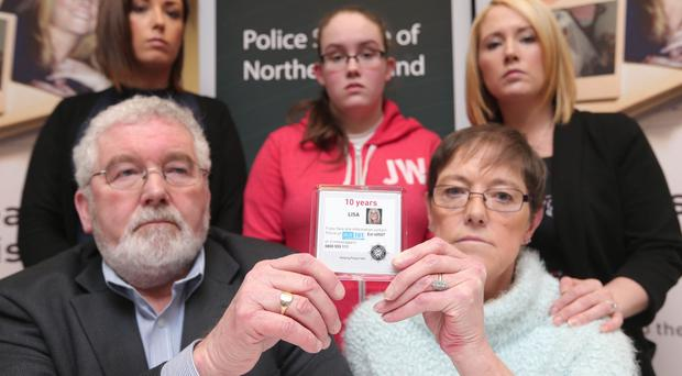 Agony: Lisa's family make fresh appeal for information about her disappearance.