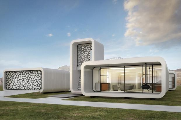 A view of the proposed 3-D printed office building. Image: UAE National Innovation Committee