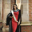 Former Miss Ireland Rebecca Maguire graduates from Queen's with a masters in Pharmacy