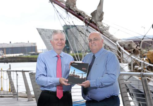 Belfast Harbour chairman David Dobbin, left, with harbour chief executive Roy Adair