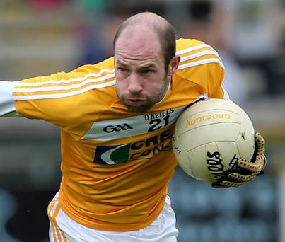 Antrim's Kieran McGourty is available for selection