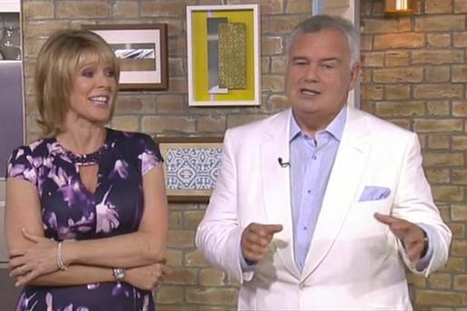Ruth and Eamonn Holmes with THAT suit