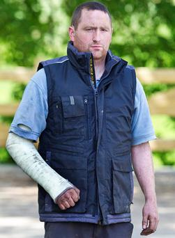 Vicious attack: Farmer Kevin Conlon suffered a fractured cheek and a broken arm after he was beaten by border gang.