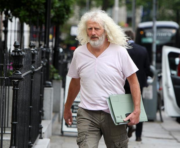 Mick Wallace, independent deputy for Wexford, outside Leinster House in Dublin.