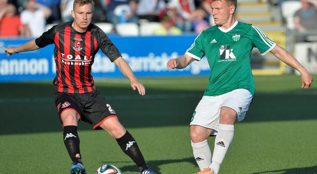Big impact: Andy Mitchell impressed on his debut for Crusaders against Levadia Tallinn