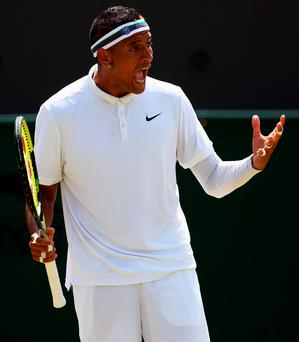 Riled Aussie: Nick Kyrgios angry at Tennis Australia decision