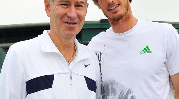 Big fan: John McEnroe is backing Andy Murray for the Wimbledon title this year