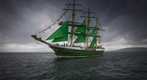 The Tall Ships on their way to the north coast for the start of the race to Norway. Pic Steven McAuley