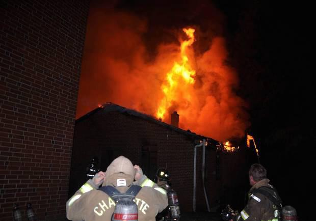 The fire at Charlotte's Briar Creek Road Baptist Church